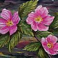 3 Wild Roses by Dee Carpenter