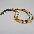 3514 Citrine Double Strand Necklace by Teresa Mucha