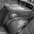 37 Chevy Coupe Bw by Jessica Brooks