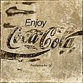Coca Cola Sign Grungy Retro Style by John Stephens