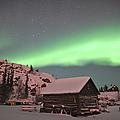 Aurora Borealis Over A Cabin, Northwest by Jiri Hermann