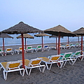 Beach Umbrellas And Chairs Costa Del Sol Spain by John Shiron