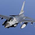 Dutch F-16am During A Combat Air Patrol by Gert Kromhout