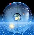 Earth's Rotation, Artwork by Detlev Van Ravenswaay
