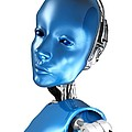 Humanoid Robot, Artwork by Victor Habbick Visions