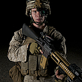 Portrait Of A U.s. Marine Wearing Night by Terry Moore
