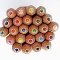 Row Of Colorful Crayons by Sami Sarkis