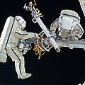 Russian Cosmonauts Working by Stocktrek Images