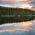 Sunrise Above A Lake On A Wind Still Morning by U Schade