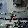 Tank Driver Of A Leopard 1a5 Mbt by Luc De Jaeger