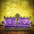 Victorian Sofa In Retro Room by Setsiri Silapasuwanchai