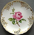 432 Small Rose Plate by Wilma Manhardt