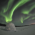 Aurora Borealis Over An Igloo On Walsh by Jiri Hermann