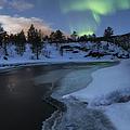 Aurora Borealis Over Tennevik River by Arild Heitmann