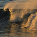 Breaking Surf At Sunset In La Jolla by Tim Laman