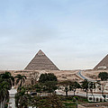 Pyramids Of Giza by Carol Ailles