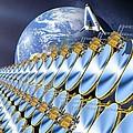 Solar Power Satellite, Artwork by Detlev Van Ravenswaay