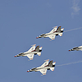 The U.s. Air Force Thunderbirds Fly by Stocktrek Images
