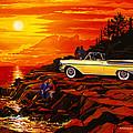 57 Merc Sunset by Bruce Kaiser