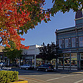 5th And G Street In Grants Pass With Text by Mick Anderson