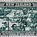 old New Zealand postage stamp by James Hill