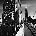 Pedestrian Suspension Footbridge The Greig Street Bridge Over The River Ness Inverness Highland Scot by Joe Fox