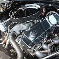 67 Black Camaro Ss 396 Engine-8033 by Gary Gingrich Galleries