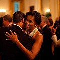 President And Michelle Obama Dance by Everett