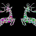 Reindeer Design By Snowflakes by Setsiri Silapasuwanchai