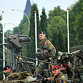 Members Of A Recce Or Scout Team by Luc De Jaeger
