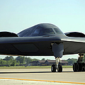 A B-2 Spirit Taxis Onto The Flightline by Stocktrek Images