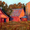 A Barn At Sunset by Cheryl Whitehall