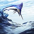A Beautiful Blue Marlin Bursts by Corey Ford