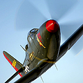 A Bell P-63 Kingcobra In Flight by Scott Germain
