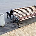 A Bench To Rest In A Public City Park by Aleksandr Volkov