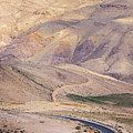 A Bend In A Desert Road Near Mount Nebo by Martin Child