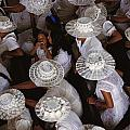 A Birds-eye View Of Women Dressed All by Paul Chesley
