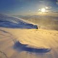 A Blizzard On Toviktinden Mountain by Arild Heitmann