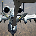 A Boom Operator Refuels An A-10 by Stocktrek Images