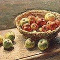 A Bowl Of Apples by Claude Monet