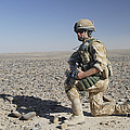 A British Army Soldier On A Foot Patrol by Andrew Chittock