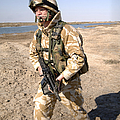 A British Army Soldier On Patrol by Andrew Chittock