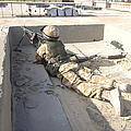 A British Soldier Provides Security by Andrew Chittock
