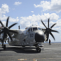 A C-2a Greyhound Taxis On The Flight by Stocktrek Images