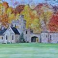 A Castle In Autumn. by Rashid Hamza