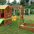 A Childs Playing Equipment In A Green Location by Ashish Agarwal