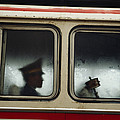 A Chinese Pla Soldier Sits On A Bus by Justin Guariglia