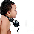 A Chubby Little Girl With Headphones by Antoni Halim