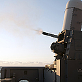 A Close-in Weapons System Fires A Burst by Stocktrek Images