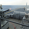 A Close-in Weapons System Fires Aboard by Stocktrek Images